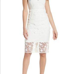 Bronx and Banco Dresses - Bronx and Banco Osa Embroidered Cap Sleeve Organza